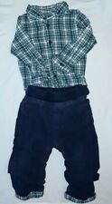 9 - 12 Months Baby Boy Smart Two Piece Set Quality M&S
