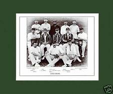 MOUNTED CRICKET TEAM PRINT - LANCASHIRE - 1895