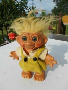 "Vintage Troll 8"" Thomas Dam Bank Girl Yellow Hair"