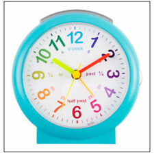 Acctim Lulu Time Teaching Bold Sweeping Silent Large Display Alarm Clock  Blue