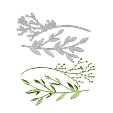 2pcs Branches Metal Cutting Dies Stencil DIY Scrapbooking Album Paper Card Craft