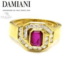 NYJEWEL Damiani 18k Yellow Gold 1.3ctw Ruby & Diamond Ring