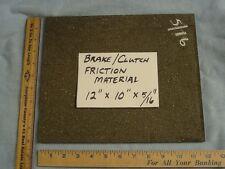"BULK MOLDED BRAKE LINING - FLAT SHEET - 12"" LENGTH X 10"" WIDTH X 5/16"" THICK"