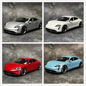 WELLY 1:24 For Porsche Taycan Turbo Alloy Diecast Static Car Model Men Gift