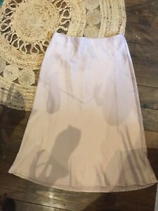 Silk Midi Slip Skirt Size L Nude Shein Aline Staple Piece Maxi Midi