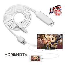 2M Apple Lightning Connect to HDMI TV AV Cable Lead Adapter for iPhone 5 5S 6 6S