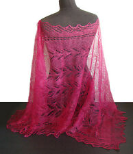 Chale Etole couleur Framboise Cadeau original Femme Etole Chale Lilas tricot