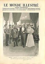 Cherbourg Nicholas II of Russia Félix Faure France-Russia Aliance GRAVURE 1896