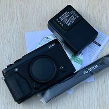 FUJIFILM X-E1 Digital Cámara 16 Mp Solo Cuerpo Negro + batería Extra Menta -
