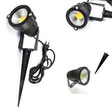 Faretto LED esterno.Giardino,picchetto staffa.Luce Terreno alberi faro COB 5W IP