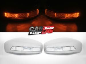 (2) LED Turning Signal Mirror Cover Caps For 09-13 INFINITI G37 IPL Sedan Coupe