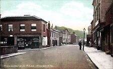 Holmfirth. Huddersfield Road by & showing A.Charlesworth, Britannia House.