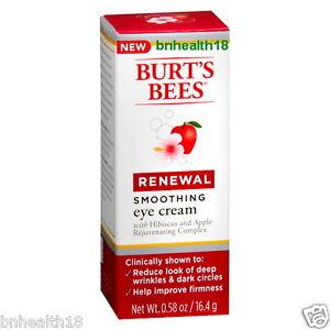 Burt's Bees Renewal Smoothing Eye Cream 0.58 oz Reduce The Look Of Deep Wrinkles