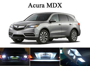 Xenon White LED Package - License Plate + Vanity + Reverse for Acura MDX (8 Pcs)