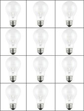 12-PK 100 Watt 120-130V NEW CLEAR Incandescent A19 LIGHT BULBS Med Base 100A
