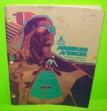 AIRBORNE AVENGER Pinball Manual Original 1977 Game Service Repair Parts ATARI