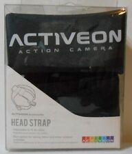 Action Head Strap For Camera, Adjustable, Skiing, Biking, Outdoors, Storage Bag