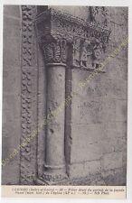 CPA ARCHITECTURE 37210 VERNOU Pilier droit portail de la façade Eglise Edit ND