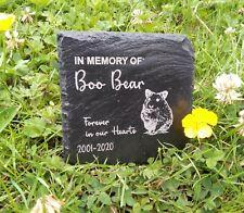 Personalised Engraved Slate Heart hamster Pet Memorial Grave Marker Plaque