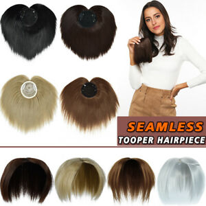 """Clip in Thick Hair Bangs 6"""" Short Topper Hair Extensions Toppee Hair Piece US"""