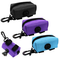Dog Waste Bag Dispenser for Leash Clip Treat Holder Pet Poop Bag Pickup Purple
