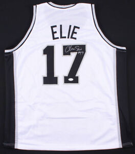 Mario Elie Signed San Antonio Spurs Jersey (JSA COA) 3×NBA Champion (94,95,99)