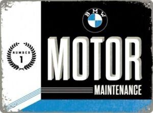 Tin Sign BMW Motor, Nostalgia Sign 40 CM , New, Metal Shield