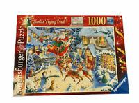 Ravensburger 2010 Limited Edition Santa's Flying Visit 1000 Piece Jigsaw Puzzle