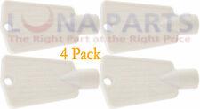 4 Pack 297147700 Freezer Door Lock Key for Electrolux Ap4301346 Ps1991481