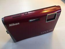 Nikon COOLPIX Coolpix S60 10.0MP Digital Camera Red  NO CHARGER