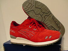 Asics running shoes gel-lyte iii size 9.5 us men red new with box