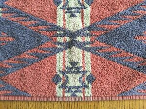Ralph Lauren Red Purple Green Geometric Aztec Hand Towel Vintage