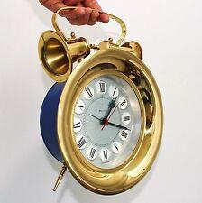 Vintage GERMAN CLOCK Mantel Wall Alarm BLESSING HUGE MINT! 9.4 Inch Mid Century