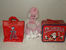 Anaheim/LA Angels Pink Plush Rally Monkey Rally Time Lunch Box Lunch Cooler Bag