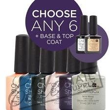 CND SHELLAC UV Color Coat 7.3ml - Any 6 Colours + Base + Top