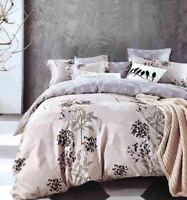 DF-054 Cotton Duvet Cover Set Quilt Bedding Set + Pillow Cases & Fitted Sheet