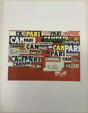 """Campari 1964 Art Work Poster 9.5""""x12.5"""" Reprint Print"""