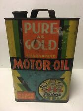 VINTAGE RARE SQUARE PEP BOYS 2 GAL MOTOR OIL CAN