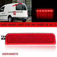 Red Lens LED Rear High Level Centre Third Brake Stop Light For VW Caddy 3