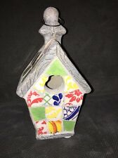 Maxcera Mosaic Birdhouse: Hand Crafted Broken Tile Mosaicware New 9""
