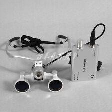 Dental Loupes Kopflupe Magnifier Binokularlupen Lupenbrille+ LED Head Lampe T1F