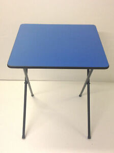 BLUE Exam Table Folding Desk Class Room Computer Study Laptop Home work Table