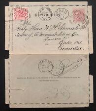 1898 Salzburg Austria Stationary Postcard Cover To Berlin Canada Via New York