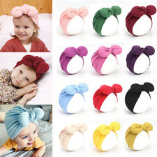 Newborn Toddler Baby Candy Color Big Bow Beanies Soft Cotton Knotted Indian Hat