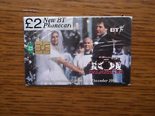 BT PHONECARD SEALED 101 DALMATIONS WALT DISNEY WEDDING 1998 JOELY RICHARDSON
