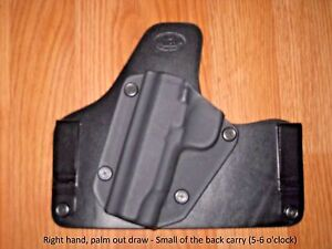 IWB Small of the Back Carry holster - Kydex/Leathe