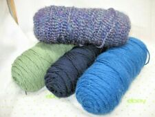 lot of 4 Skeins Acrylic Knit Crochet Yarn Varigated & Plain