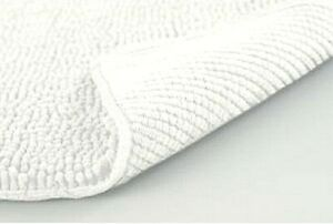 """Extra Long Bath Rug Chenille White Soft 24""""x 60"""" Absorbs up to 7X its Weight NEW"""