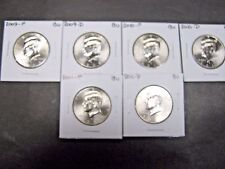 2008 2009 2010 2011  P  D  KENNEDY HALF DOLLARS FROM MINT ROLLS (8 Coins)