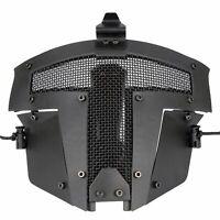Black Tactical Airsoft Paintball SPT Mesh Full Face Mask Sparta AF Helmet Mask